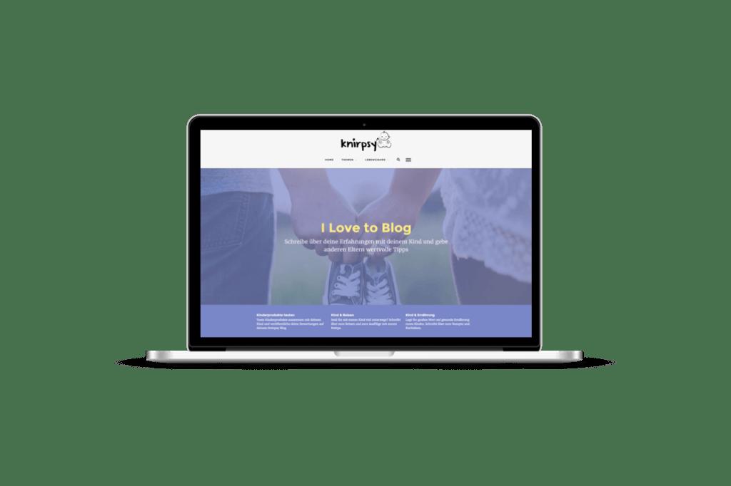 Professionell bloggen für Mamas und Papas mit Baby Blog von kniprsy